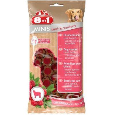 8 in 1 - 8 in 1 Minis Lamb & Kızılcık Glutensiz Köpek Ödülü 100 Gr