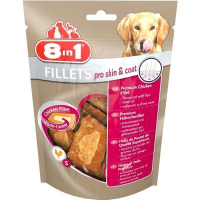 8 in 1 - 8in1 Fillets Pro Skin ve Coat Keten Tohumu Yağı Köpek Ödülü 80Gr