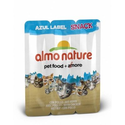 - Almo Nature Azul Label Tavuklu Kedi Ödülü 3 x 5 Gr