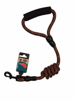 Ans - Ans Uzatılabilir Örme Köpek Gezdirme - 1,4 cm KAHVERENGİ
