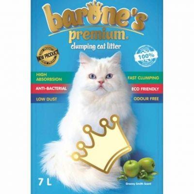 Barone′s - Barone's Premium Kalın Taneli Yeşil Elma Kokulu Bentonit Kum 7LT