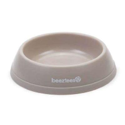 Beeztees - Beeztees Bej Plastik Kedi ve Küçük Irk Köpek Mama Kabı 0,2 Lt