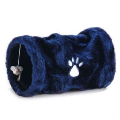 Beeztees - Beeztees Mini Peluş Çift Taraflı Kedi Oyun Tüneli 30 cm