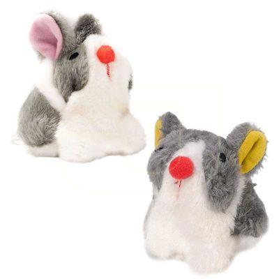 Beeztees - Beeztees Peluş Titrek Peluş Tavşan Kedi Oyuncağı 10 Cm