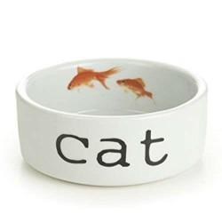 Beeztees - Beeztees Porselen Balık Figürlü Kedi Mama Kabı 300 ml