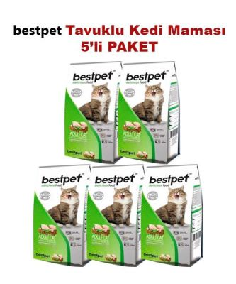 Best Pet - BestPet Tavuk Etli Ve Pirinçli Yetişkin Kedi Maması 5 KG