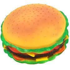 Bobo - Bobo Hamburger Figürlü Sesli Köpek Oyuncağı 15 Cm