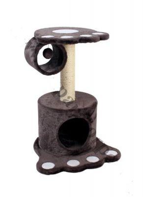 Bobo - Bobo Pati Desenli Yuvalı Büyük Kedi Tırmalama Evi 44*44*62CM