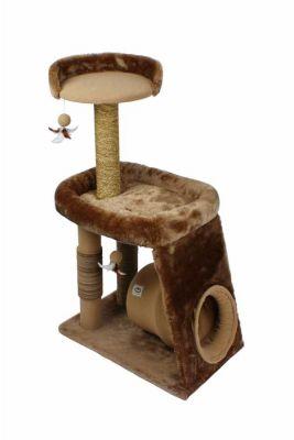 Bobo - Bobo Yuvalı Büyük Boy Kedi Tırmalama Evi 61*40*102CM