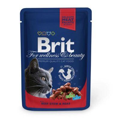Brit Care - Brit Premium Cat Pouches Biftekli Bezelyeli Kedi Konservesi 100 Gr