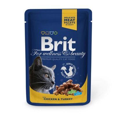 Brit Care - Brit Premium Cat Pouches Tavuk ve Hindili Kedi Konservesi 100 Gr