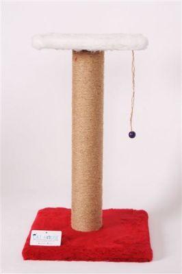 Cat Hause - Cat House Kedi Tırmalama Standı 58 Cm Kırmızı