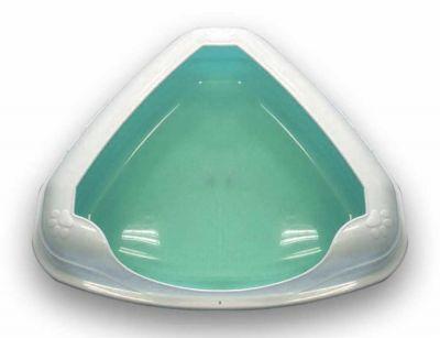 Diğer - Çerçeveli Üçgen Kedi Tuvalet Kabı 66 X 56 X 20 CM TURKUAZ
