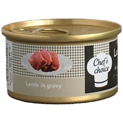 Chef′s Choise - Chefs Choice Kuzu Eti Soslu Kedi Konservesi 80 Gr