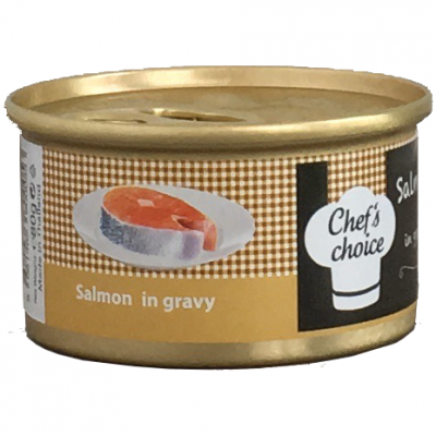 Chef′s Choise - Chefs Choice Somon Balığı Soslu Kedi Konservesi 80 Gr