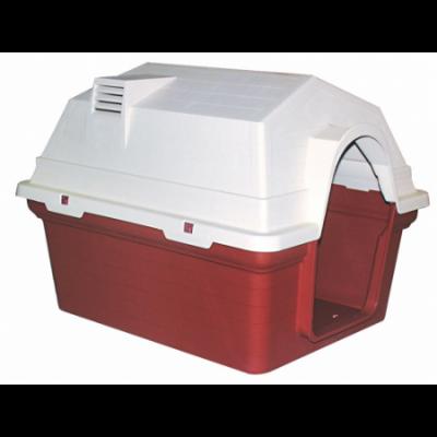 Dr.Sacchi - Dr.Sacchi Bacalı Köpek Kulübesi Kırmızı 84*63*62,9 cm