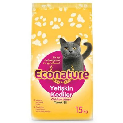 Eco Nature - EcoNature Chicken Tavuk Etli Yetişkin Kedi Maması 15 Kg