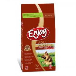 Enjoy - Enjoy Kuzu Pirinçli Yetişkin Köpek Mamasi 15 Kg