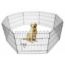 - Eurogold Köpek İçin Tel Panel Çit 61x78 cm Krom