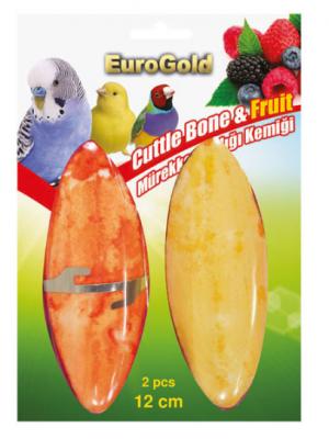 EuroGold - Eurogold Mürekkep Balığı Kemiği Meyve Aromalı 2\'li 15 cm