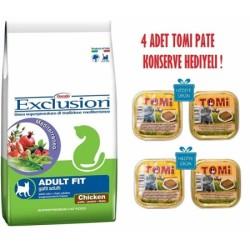 Exclusion - Exclusion Tavuk Etli Fit Yetişkin Kedi Maması 10 Kg