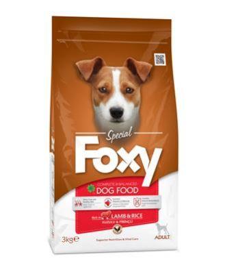 Foxy - Foxy Kuzu Etli Yetişkin Köpek Maması 3 Kg