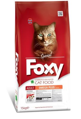 Foxy - Foxy Omega Plus Balıklı Yetişkin Kedi Maması 15 Kg