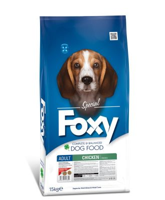 Foxy - Foxy Tavuk Etli Yetişkin Köpek Maması 15 Kg