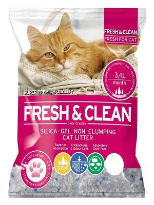 - Fresh Clean Kristal Kedi Kumu 3,4 Lt