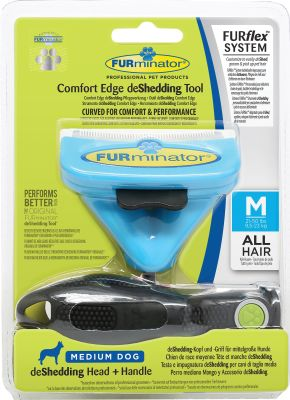 - Furminator FURflex Değişebilir Başlıklı Köpekler için Tarak Medium