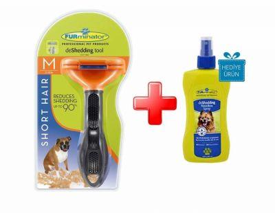 Furminator - Furminator Kısa Tüylü Köpekler İçin Tüy Toplayıcı Tarak MEDIUM