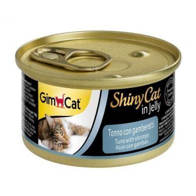 Gimcat - Gimcat Shinycat Kedi Konserve Tuna Balıklı Karidesli 70gr