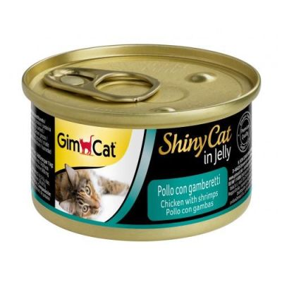 Gimdog - Gimcat Shinycat Konserve Kedi Maması Tavuk Karidesli 70gr