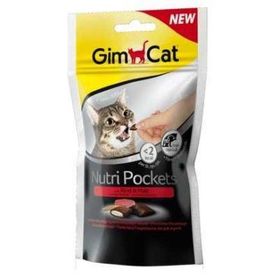 Gimcat - Gimpet Gimcat Nutripockets Kedi Ödülü Biftekli Malt 60Gr