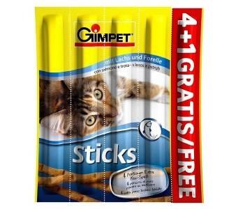 Gimcat - Gimpet-Gimcat Sticks Alabalık ve Somonlu 4+1 Çiğnenti 20 Gr