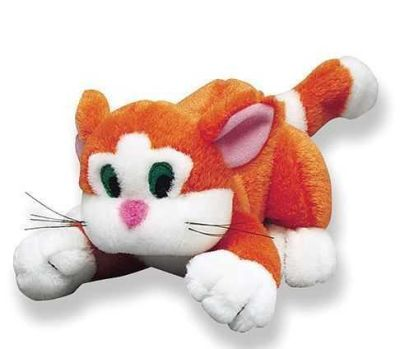 Happy Pet - Happy pet Kedi Şeklinde Kedi Sesli Peluş Oyuncak Turuncu 23cm