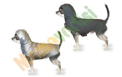 - Kapüşonlu Çift Taraflı Köpek Kıyafeti Gri Koyu Gri