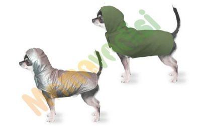 Diğer - Kapüşonlu Çift Taraflı Köpek Kıyafeti Gri Yeşil