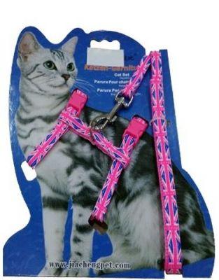 Diğer - Katzen Kedi Göğüs Tasma Seti Bayrak Desenli