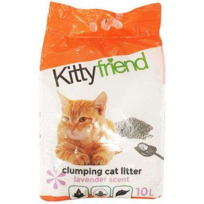 Sanicat - Kitty Friend Topaklaşan Lavantalı Kedi Kumu 10 LT
