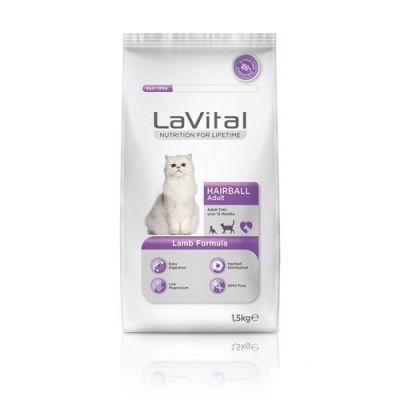 La Vital - La Vital Cat Adult Hairball Lamb Yetişkin Kedi Maması 1,5 KG