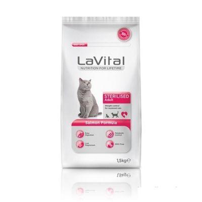 La Vital - La Vital Cat Kısırlaştırılmış Somonlu Yetişkin Kedi Maması 1,5 KG