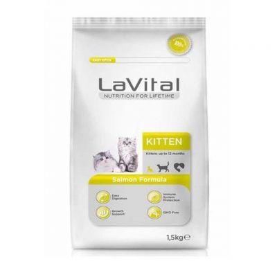 La Vital - La Vital Cat Kitten Somon Balıklı Yavru Kedi Maması 1.5 KG