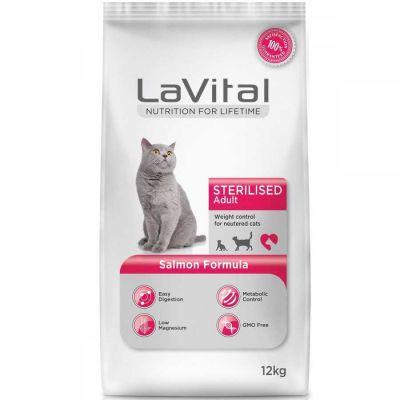 La Vital - La Vital Somonlu Kısırlaştırılmış Kedi Maması 12 KG