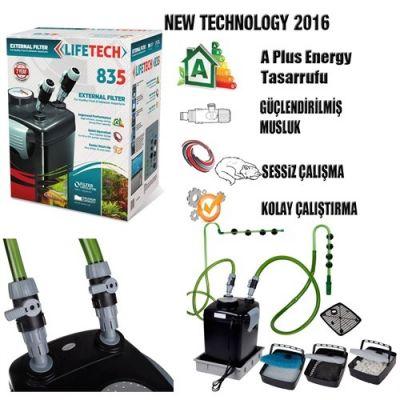 Lifetech - Life Tech Filtre 835 Siyah Kova İçi Dolu 1000 L/H