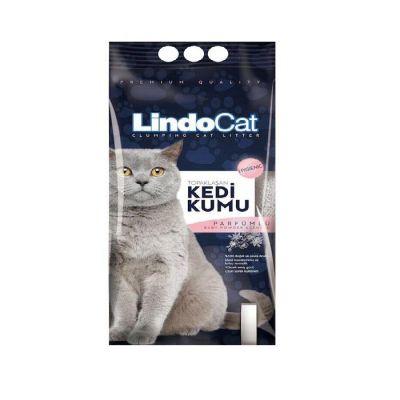 LindoCat - Lindo Cat Parfüm Kokulu İnce Taneli Topaklanan Kedi Kumu 5 Lt