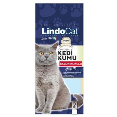 LindoCat - Lindo Cat Sabun Kokulu İnce Taneli Topaklanan Kedi Kumu 10 Lt