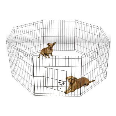 - Lion Kedi ve Köpekler İçin Panel Çit 61x61Cm 8 Parça