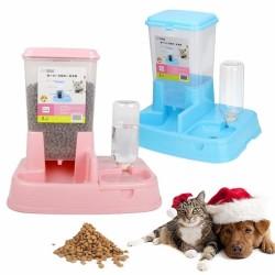 - Lion Little Pets Hazneli Mama Ve Su Kabı Pembe