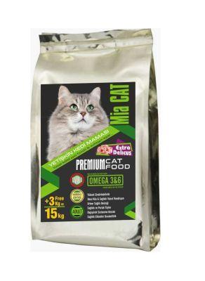 Mia - Mia Cat Tavuklu Yetişkin Kedi Maması 12+3KG BONUS PAKET